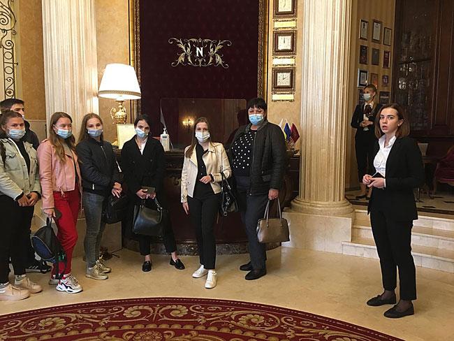 Відбулось заняття-екскурсія <br/>на базі одного з львівських готелів