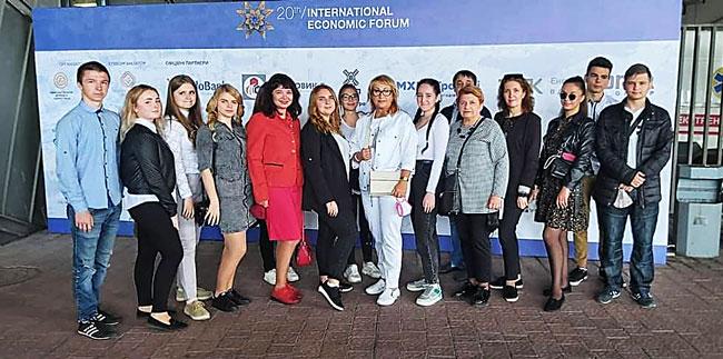 Викладачі та студенти ВСП «ЛФКХПП НУХТ» <br/>на економічному форумі
